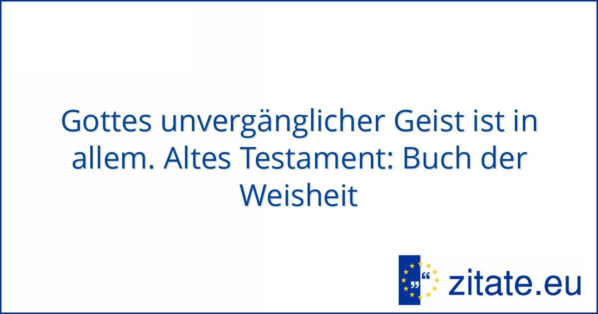 Altes Testament Buch Der Weisheit Zitate Eu