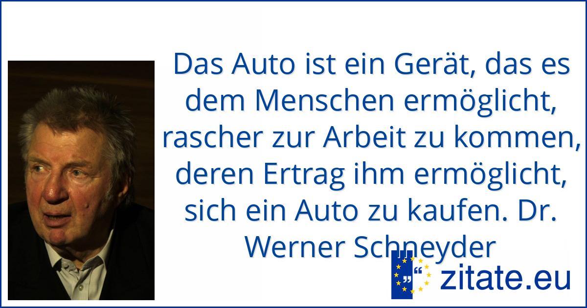 Dr Werner Schneyder Zitate Eu