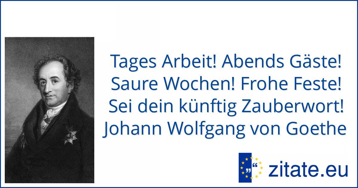 Johann Wolfgang Von Goethe Zitate Eu