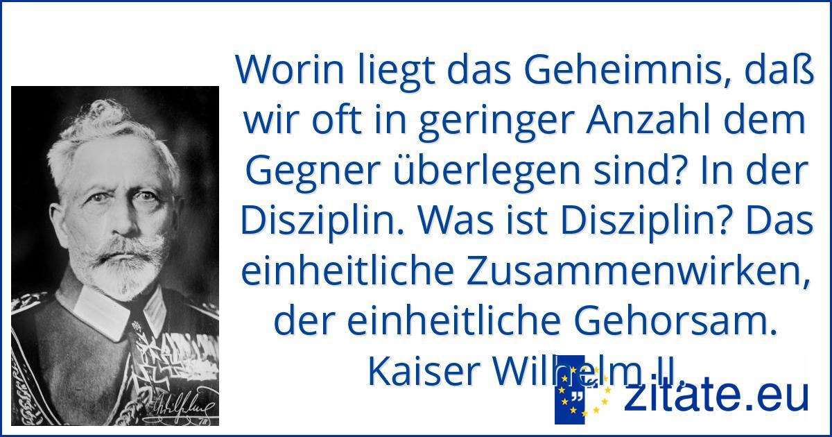 Wilhelm Ii Zitate
