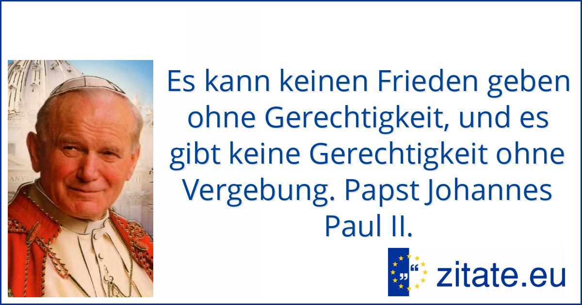 Johannes Paul Ii Zitate