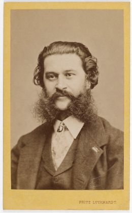 Johann Strauß (Sohn) - By Fritz Luckhardt (1843-1894) - Photographer Adam Cuerden - Restoration [Public domain or Public domain], via Wikimedia Commons