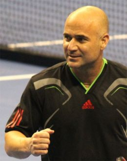 Andre Agassi - By Shinya Suzuki from New York, U.S.A. (Andre Agassi) [CC BY 2.0 (http://creativecommons.org/licenses/by/2.0)], via Wikimedia Commons