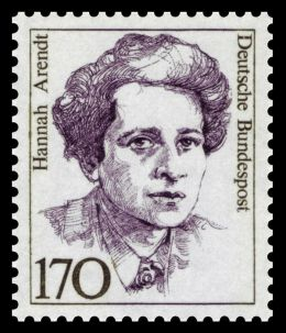 Hannah Arendt - By Deutsche Bundespost (scanned by NobbiP) [Public domain], via Wikimedia Commons