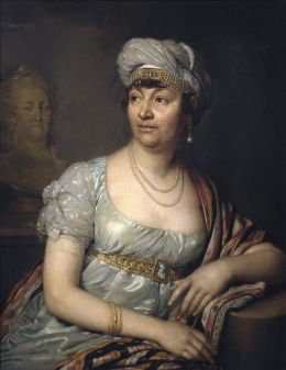 Baronin Germaine-Anne-Louise von Staël-Holstein - Vladimir Borovikovsky [Public domain], via Wikimedia Commons