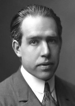 Niels Bohr - By The American Institute of Physics credits the photo [1] to AB Lagrelius & Westphal, which is the Swedish company used by the Nobel Foundation for most photos of its book series Les Prix Nobel. (Niels Bohr's Nobel Prize biography, from 1922) [Public dom